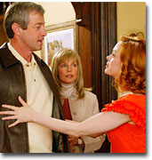 Charmed -The Day the Magic Died - Airdate: Sunday, February 16, 2003  Pictured (left to right): James Read as Victor, Cheryl Ladd as Doris, Rose McGowan as Paige Matthews