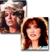 Farrah Fawcett & Tanya Roberts on Celebrity Sports Invitation