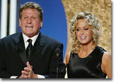 Ryan O'neil and Farrah Fawcett on stage at the ABC's 50th Anniversary Celebration  will air MONDAY, MAY 19  (8:00-11:00 p.m., ET)