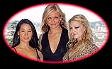 From left: Lucy Liu, Cameron Diaz and Drew Barrymore during a photocall prior to the screening of their new movie,'Charlie's Angels: Full Throttle' , in Rome Thursday, July 3, 2003. (AP Photo/Andrew Medichini)