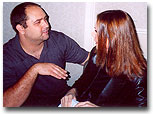 Mike Pingel from CharliesAngels.com chatting with Angelic Kate Jackson